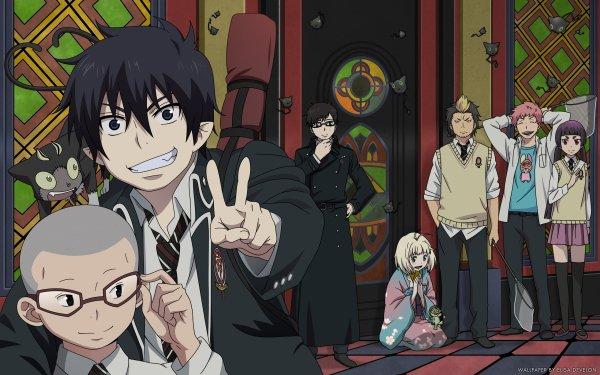 Anime Blue Exorcist Ao No Exorcist Konekomaru Miwa Kuro Rin Okumura Yukio Okumura Shiemi Moriyama Ryuji Suguro Izumo Kamiki Renzo Shima HD Wallpaper | Background Image