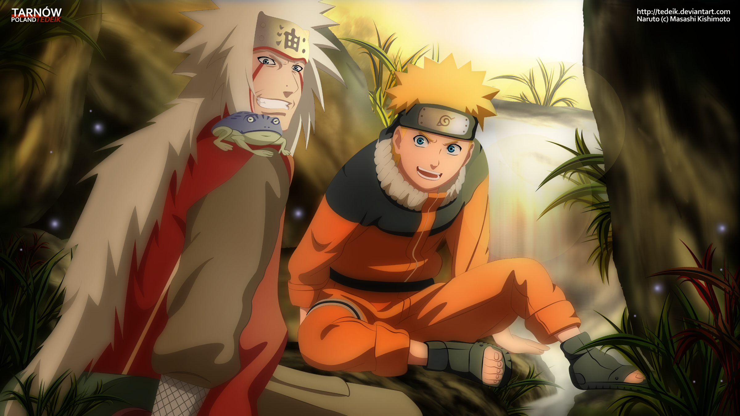 Naruto and Jiraiya HD Wallpaper | Background Image ...