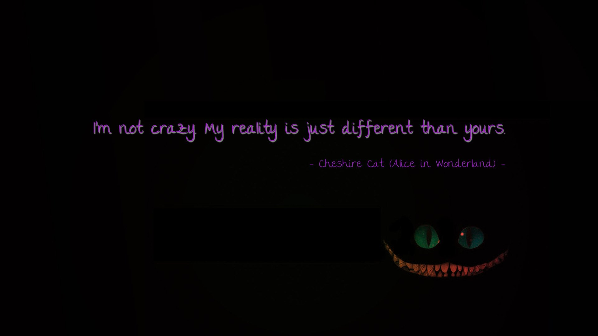 Quote From Alice In Wonderland Hd Wallpaper Background Image