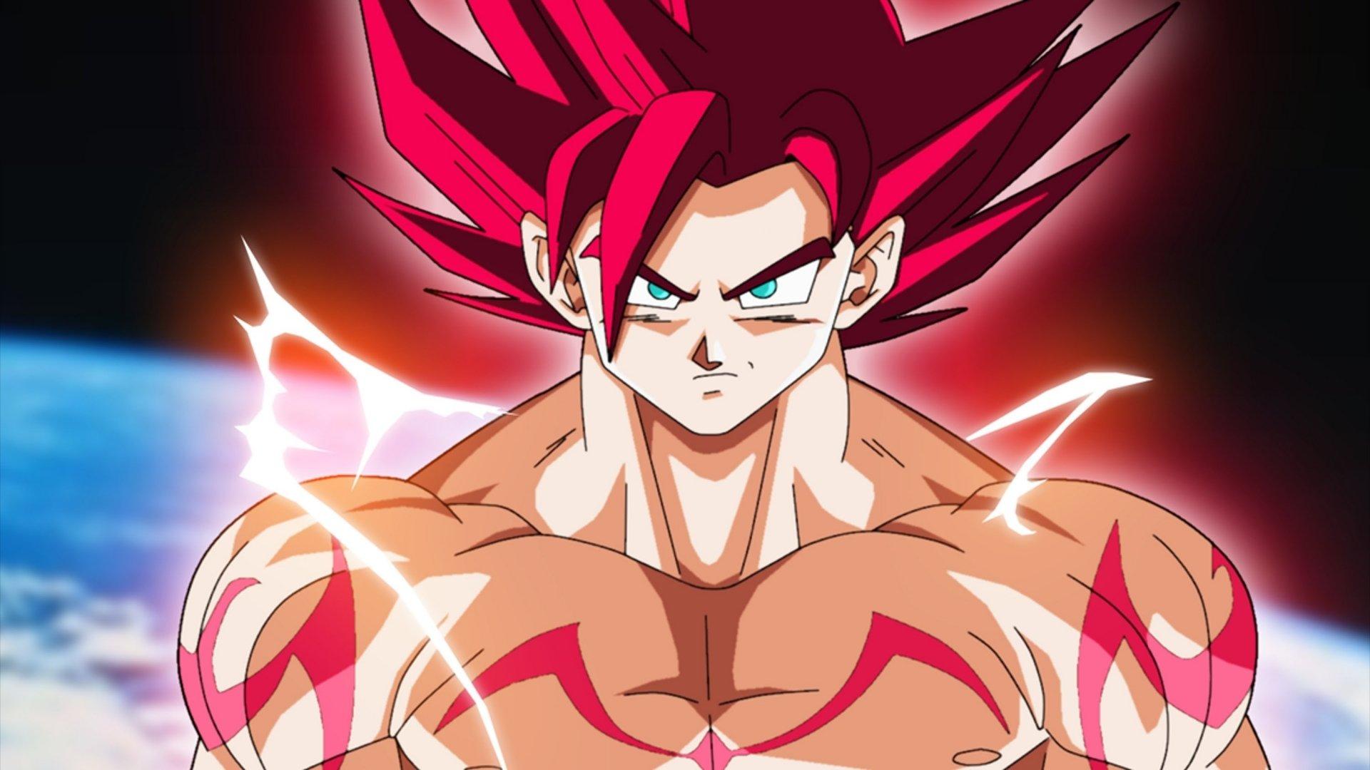 动漫 - 龙珠超  Super Saiyan God Goku 壁纸