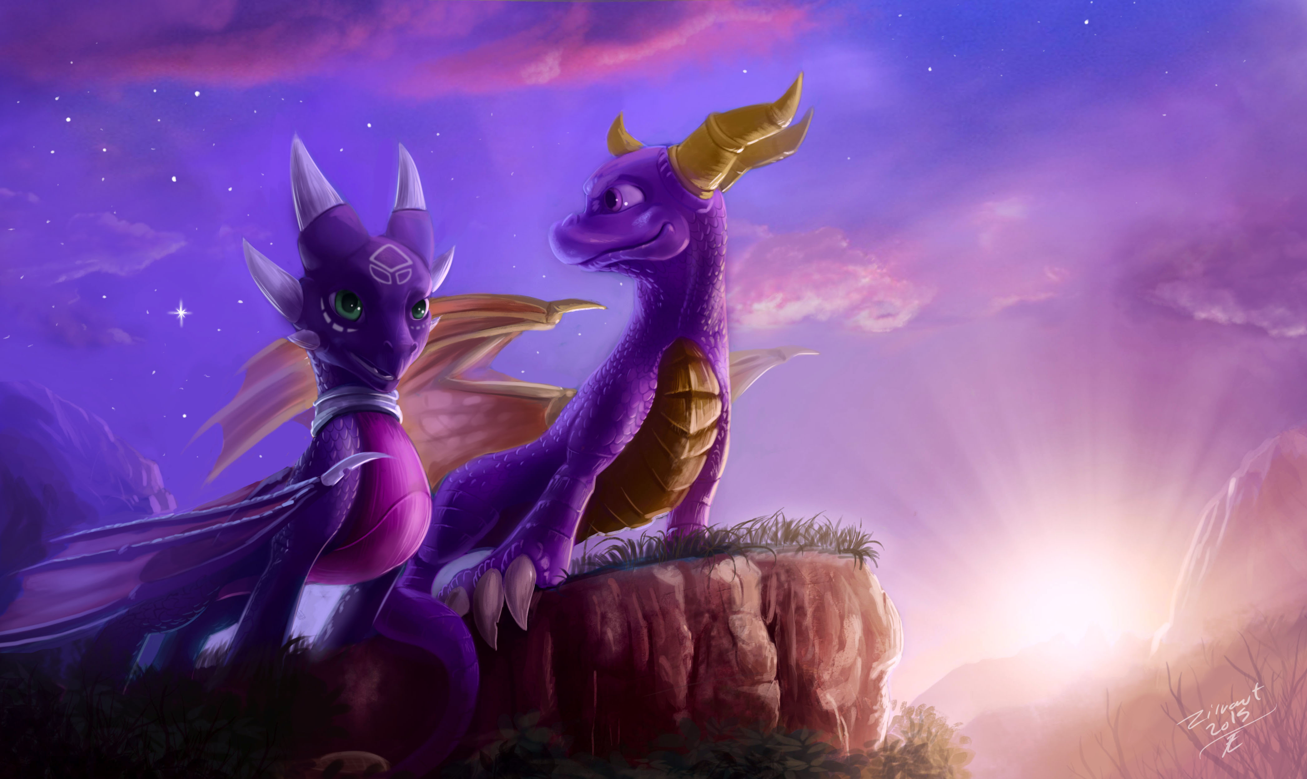 Spyro And Cynder 4k Ultra HD Wallpaper Background Image
