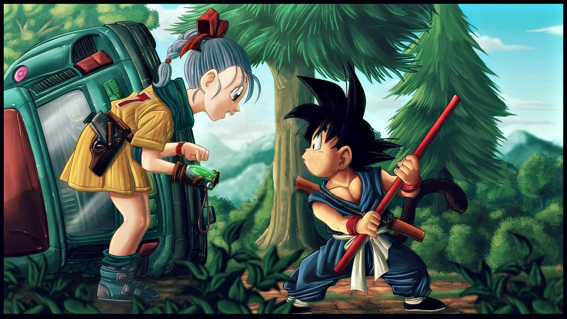 Bulma And Goku Fond D Ecran Hd Arriere Plan 1920x1080