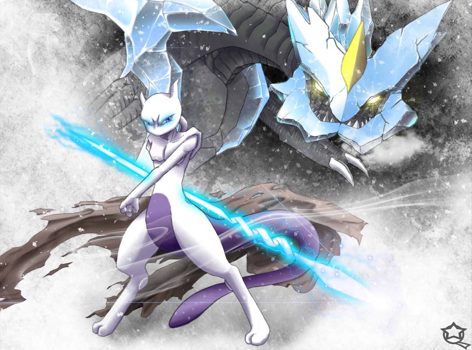 Anime - Pokémon  Mewtwo (Pokémon) Kyurem (Pokemon) Wallpaper