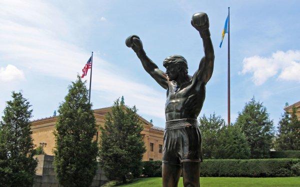 Man Made Statue Rocky Balboa HD Wallpaper | Background Image