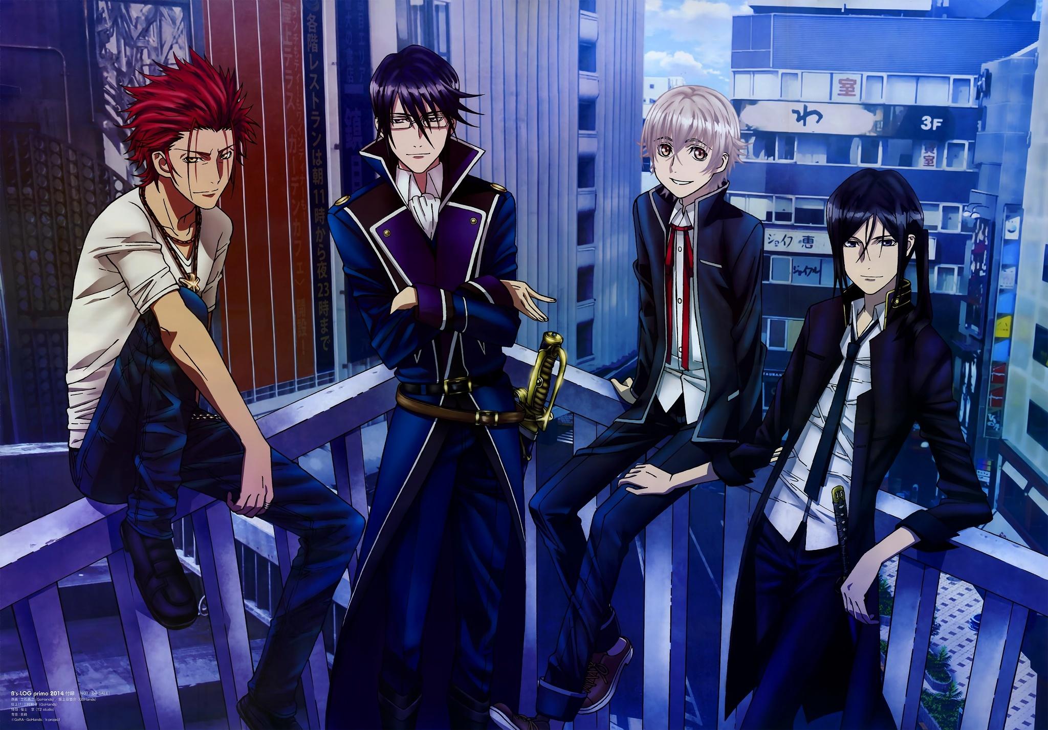 Mikoto,Reisi,Yashiro And Kuroh Full HD Wallpaper And