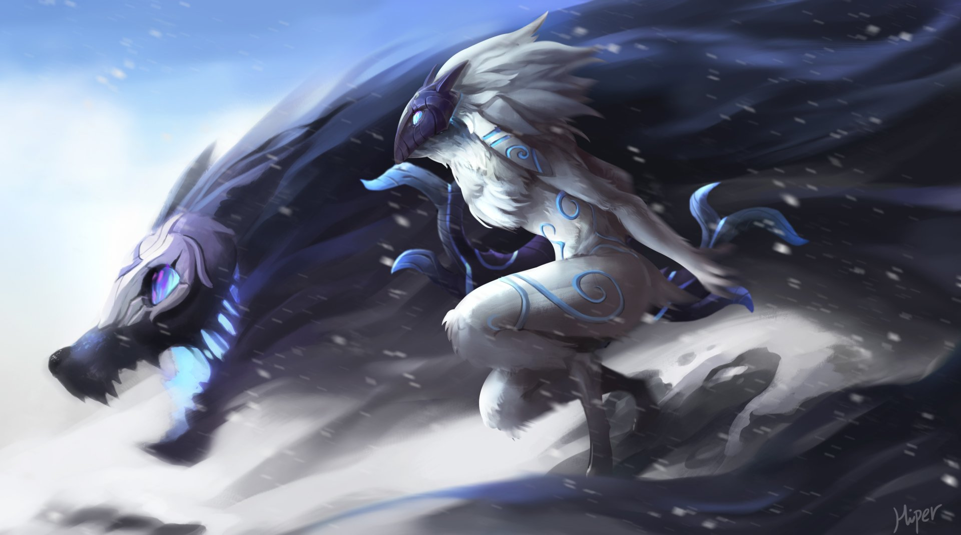 Vídeo Game - League Of Legends  Kindred (League of Legends) Papel de Parede