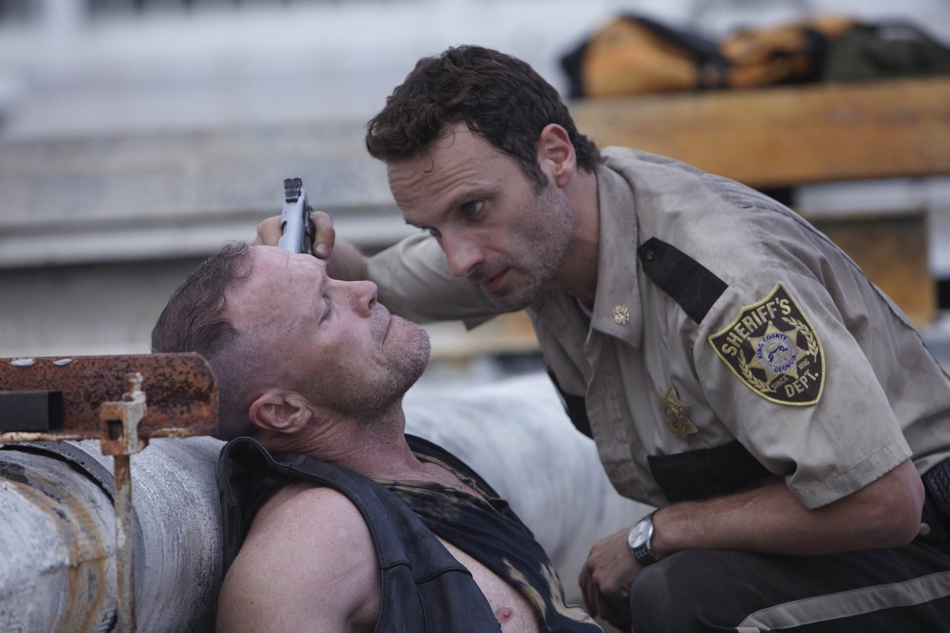 TV Show - The Walking Dead  Andrew Lincoln Rick Grimes Michael Rooker Merle Dixon Wallpaper