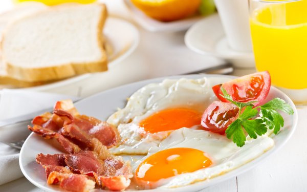 Food Breakfast Egg Bacon Tomato Juice HD Wallpaper   Background Image