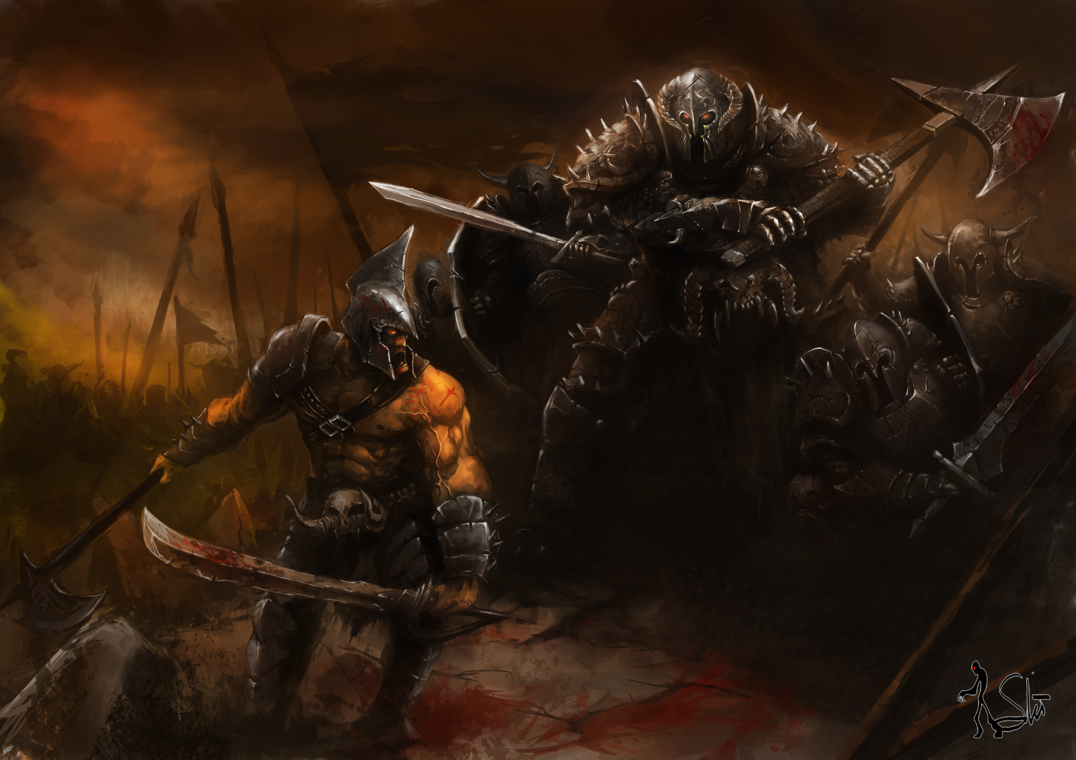 Warrior HD Wallpaper | Background Image | 3508x2480 | ID ...