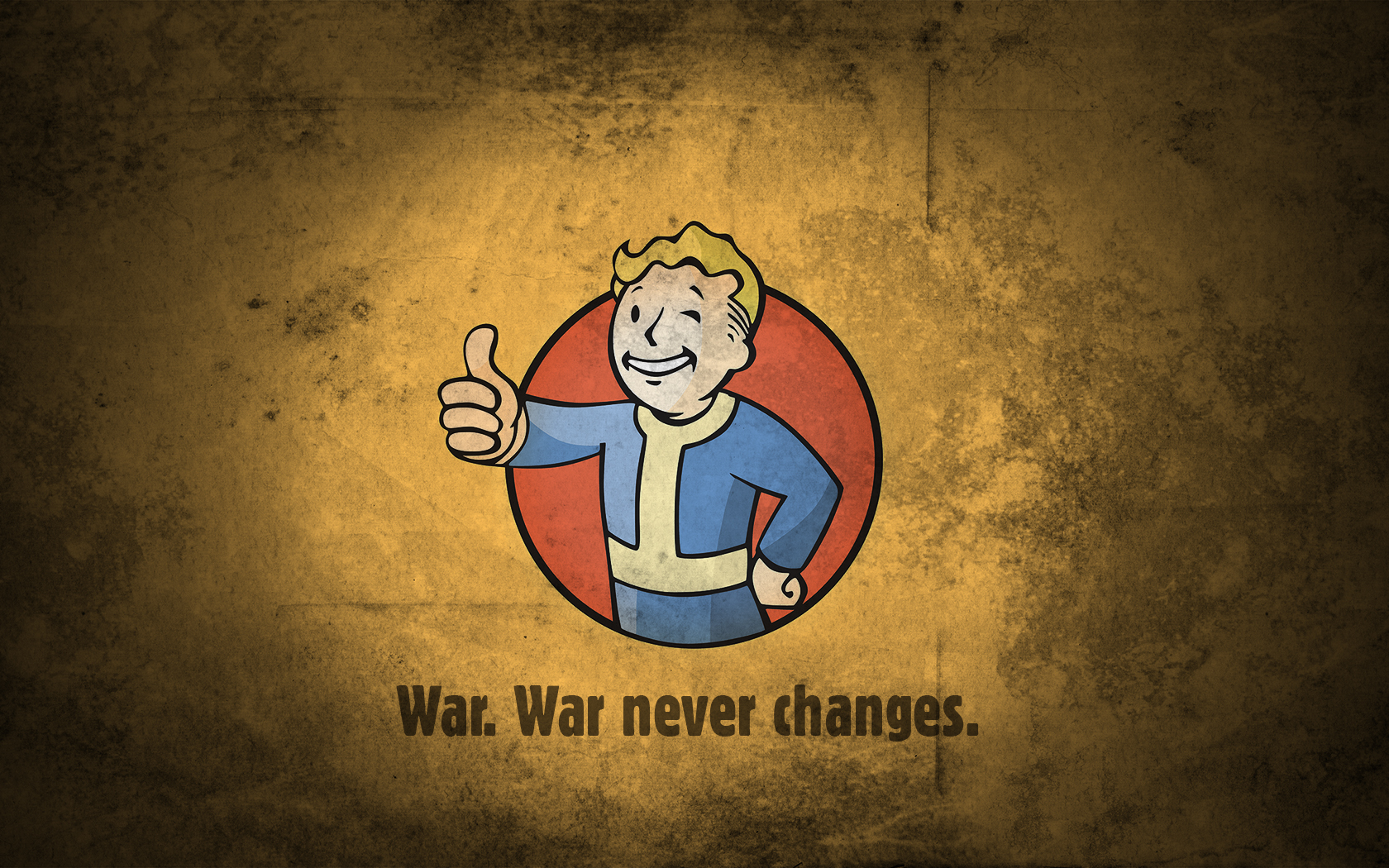 fallout vault boy war never changes wallpaper and