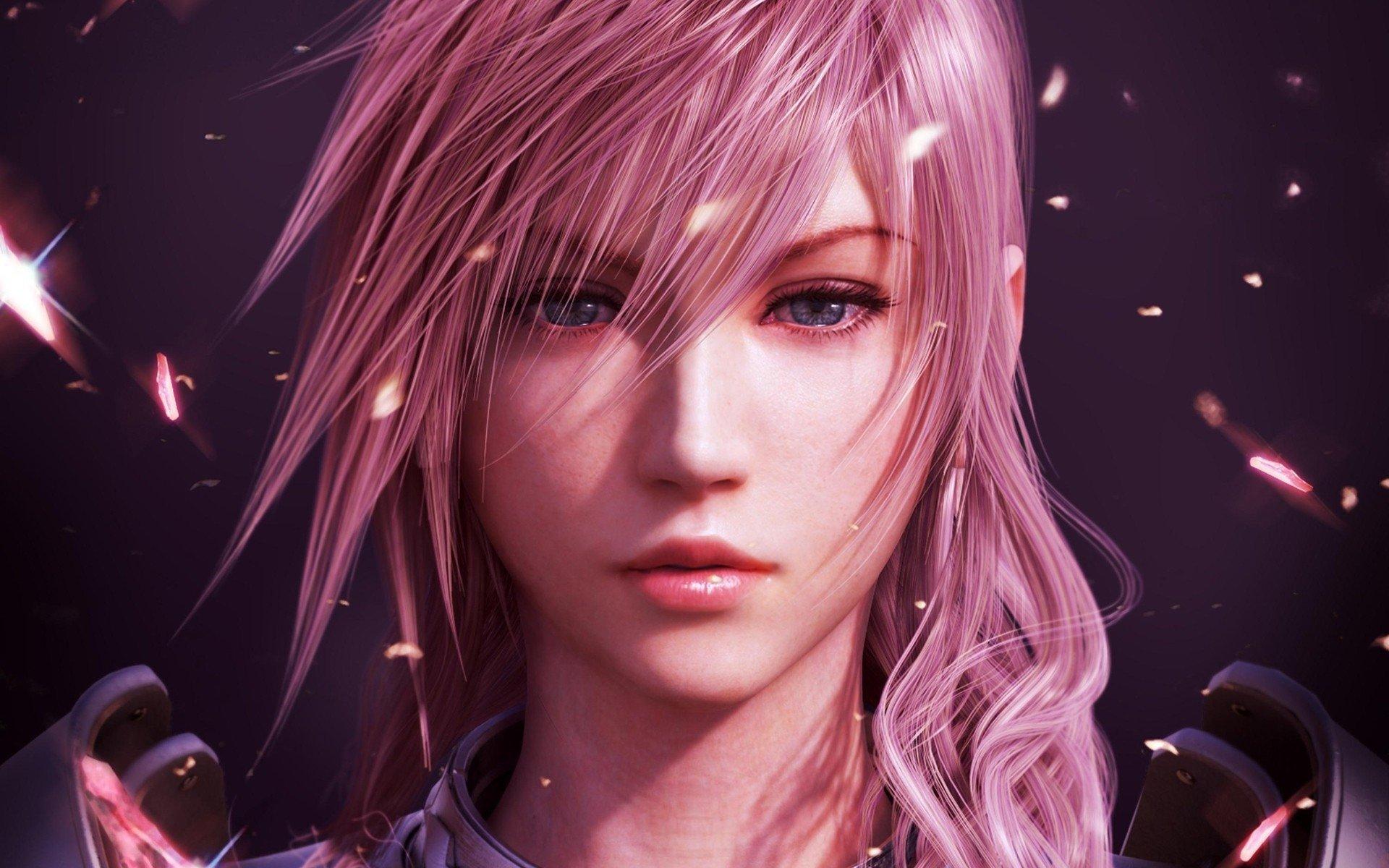 电子游戏 - 最终幻想13-2  最终幻想13 CGI 最终幻想 Pink Hair 壁纸