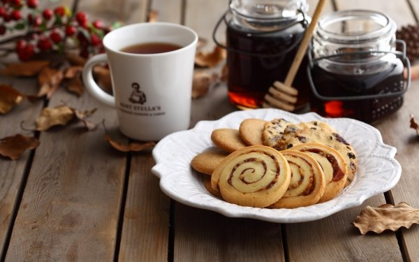 Mat Biscuit Tea Honey HD Wallpaper | Background Image