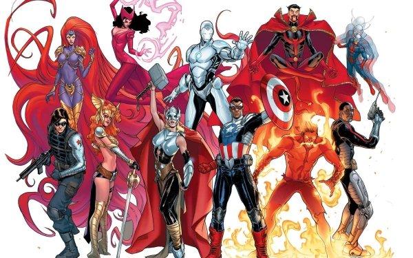 Bande-dessinées Avengers NOW! Ant-Man Sorcière rouge Marvel Comics Iron Man Docteur Strange Angela Thor Captain America Inferno Medusa Winter Soldier Sam Wilson Fond d'écran HD | Arrière-Plan