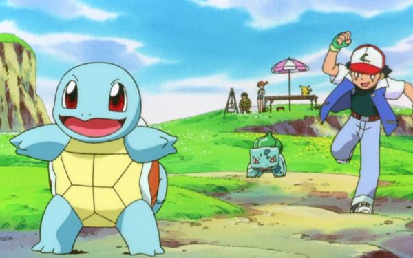 Anime Pokémon, le film : Mewtwo contre-attaque Pokémon Squirtle Bulbasaur Ash Ketchum Brock Misty Pikachu Fond d'écran HD | Arrière-Plan