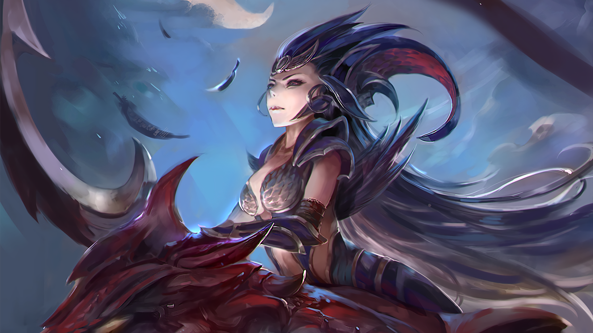League of legends full hd wallpaper and background image 1920x1080 video game league of legends diana league of legends dragon wallpaper voltagebd Gallery