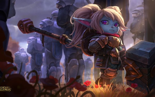 Video Game League Of Legends Poppy Hammer Pointed Ears HD Wallpaper | Background Image