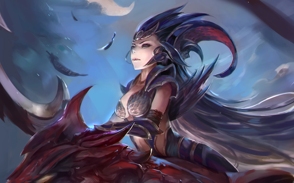 Video Game League Of Legends Diana Dragon HD Wallpaper | Background Image