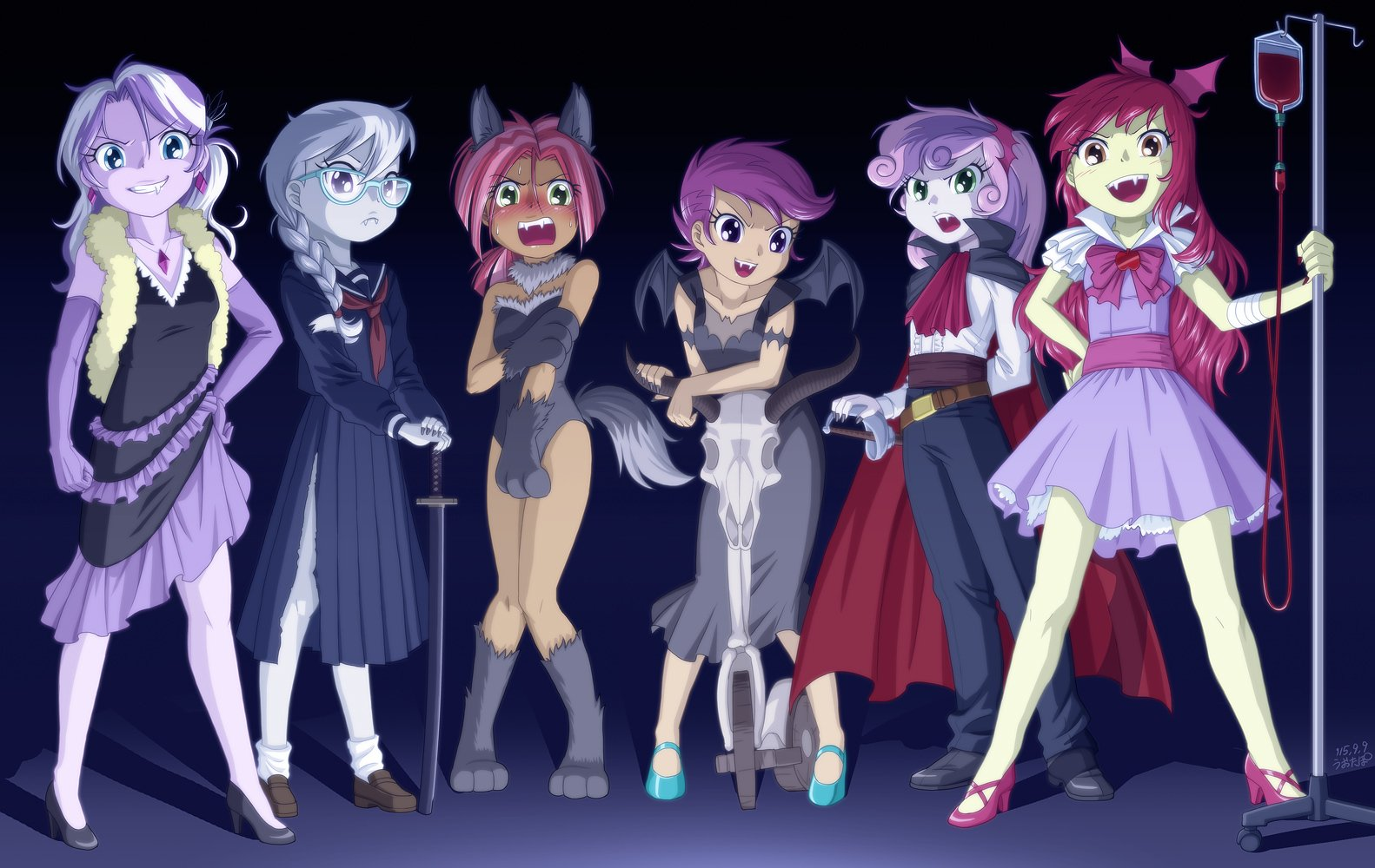 Vampire Fillies And Werewolf Babs Wallpaper And Background Image