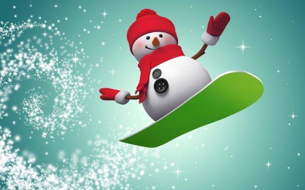 Artistic Snowman HD Wallpaper   Background Image