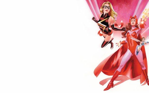 Bande-dessinées Avengers Assemble Marvel Comics Ms. Marvel Sorcière rouge Fond d'écran HD | Image