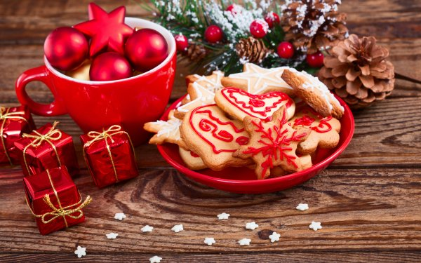 Holiday Christmas Christmas Ornaments Pine Cone Cookie HD Wallpaper   Background Image