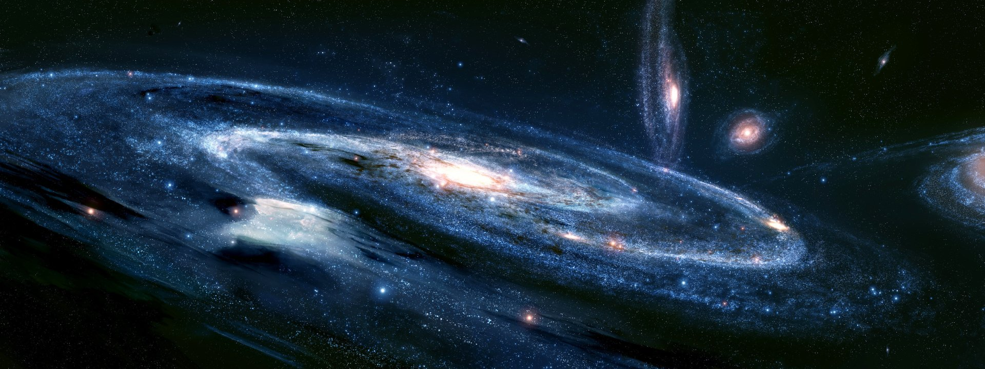 Sci Fi - Milky Way  Universe Galaxy Space Wallpaper