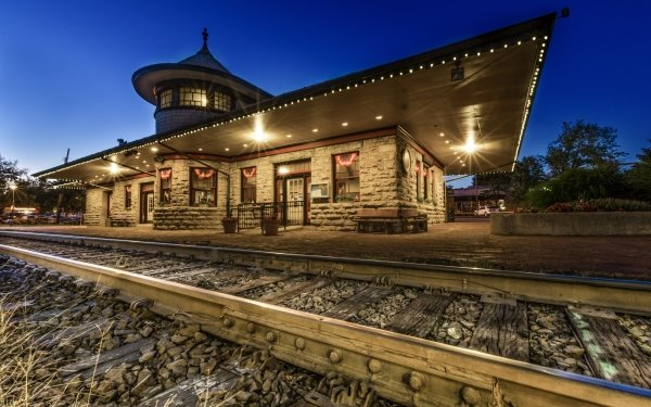 Man Made Train Station Railroad Building HDR Light HD Wallpaper   Background Image
