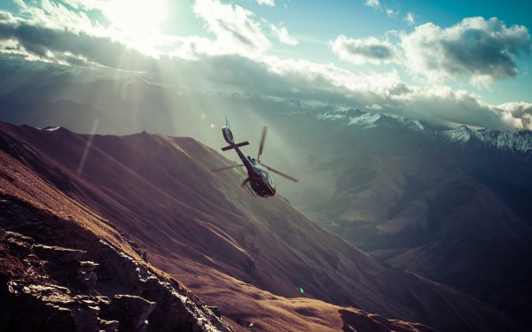 Vehicles Helicopter Aircraft Helicopters Mountain HD Wallpaper   Background Image
