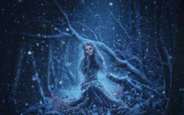 Fantasy Women Winter Snow HD Wallpaper | Background Image