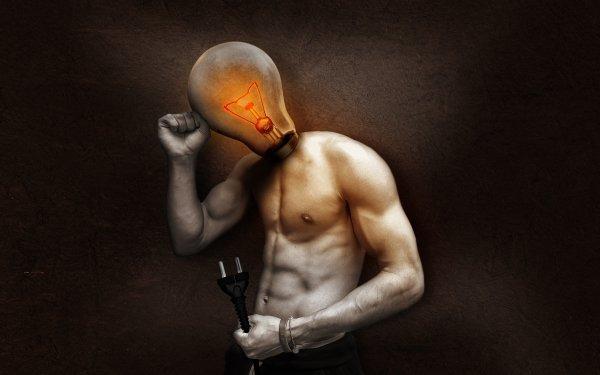 Artistic Human Light Bulb Manipulation HD Wallpaper | Background Image