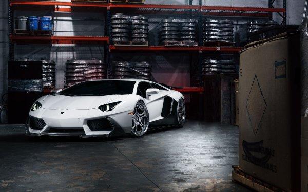 Vehicles Lamborghini Aventador LP 700-4 Lamborghini White Car Car Supercar HD Wallpaper | Background Image