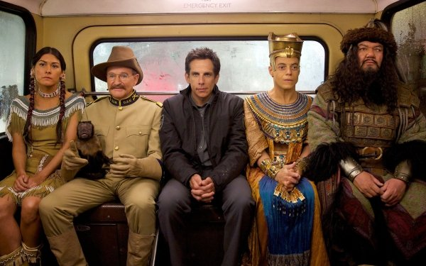 Movie Night at the Museum: Secret of the Tomb Ben Stiller Robin Williams Monkey HD Wallpaper | Background Image