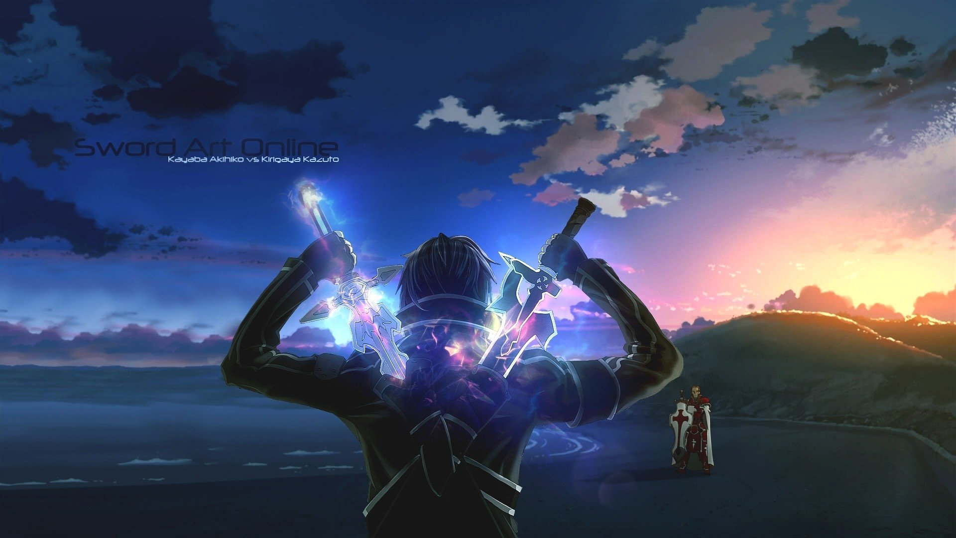 Anime - Sword Art Online  Anime Kirito (Sword Art Online) Kayaba Akihiko Sword Weapon Sunrise Wallpaper