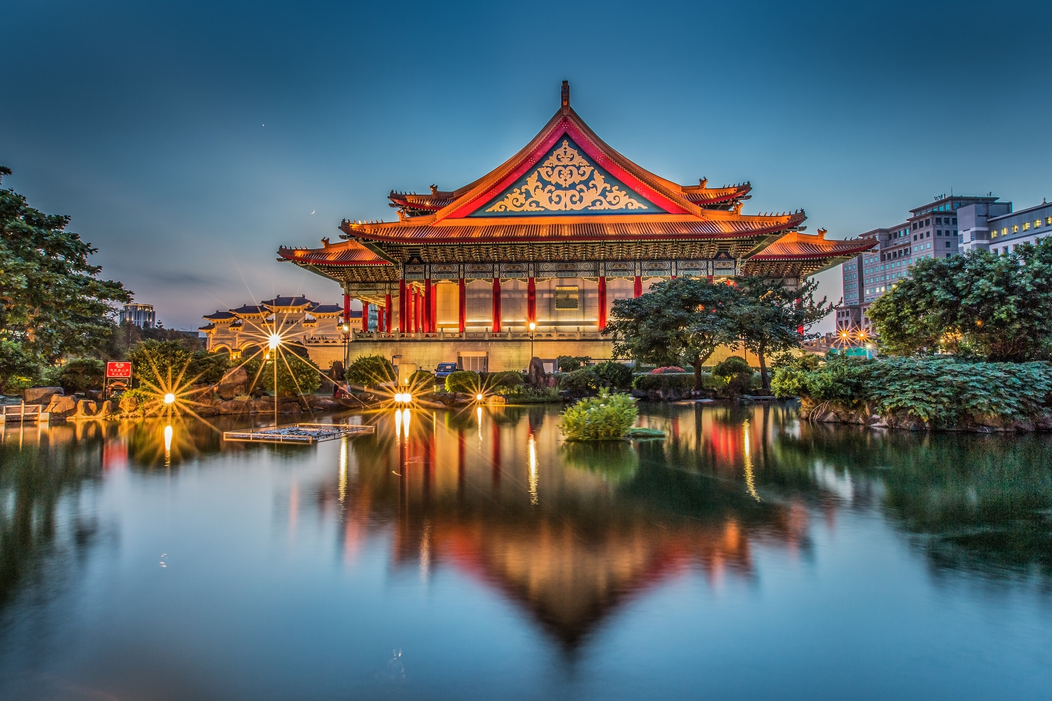 Chiang Kai-shek Memorial Hall in Taiwan Papel de Parede HD   Plano ...