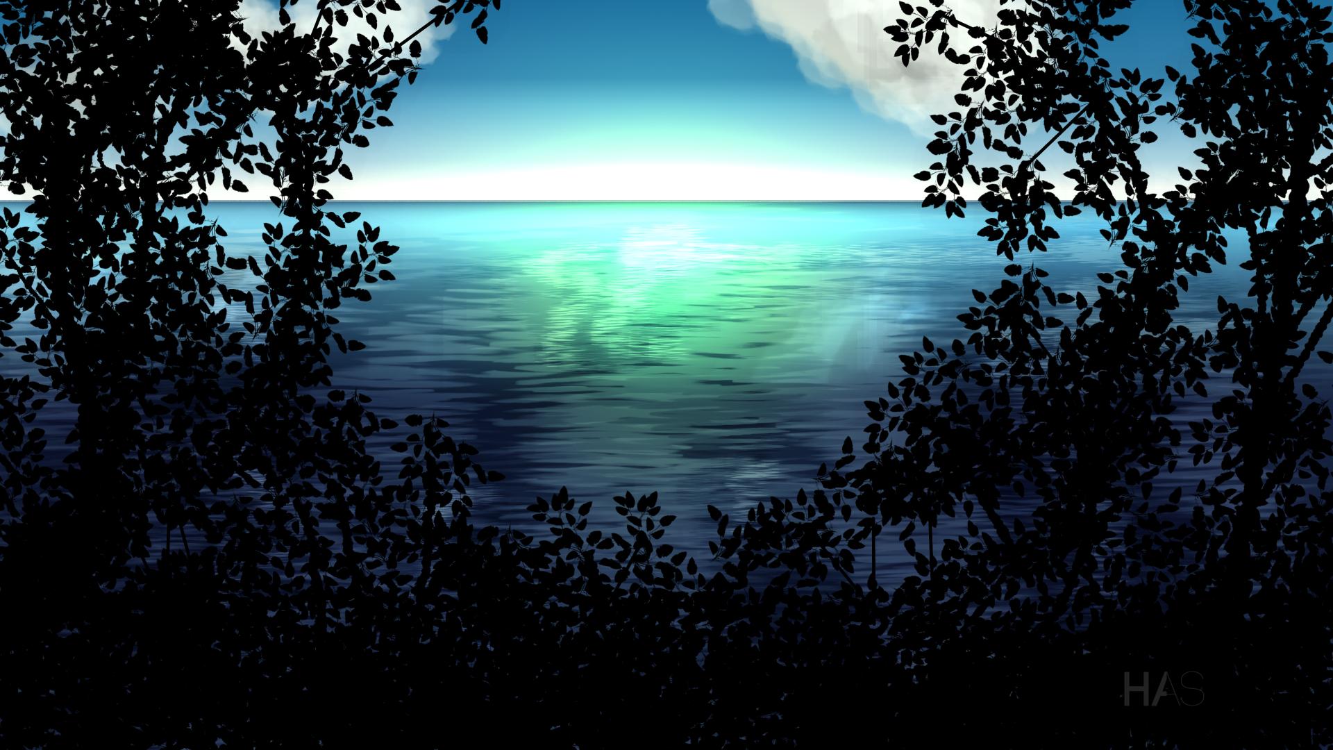 Artistic - Ocean  Sea Blue Scenic Dark Wallpaper