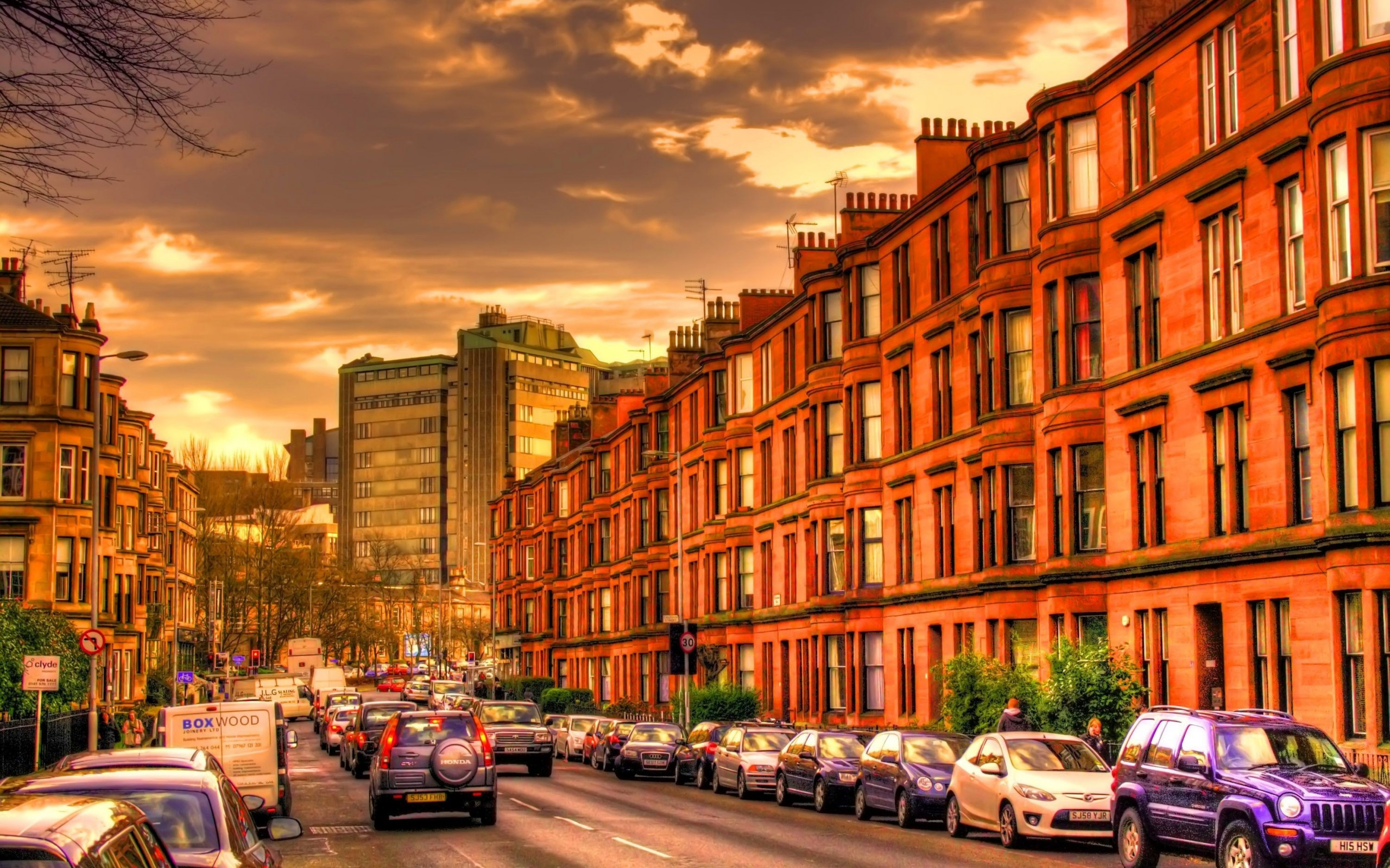 City Street Full HD Wallpaper And Background Image