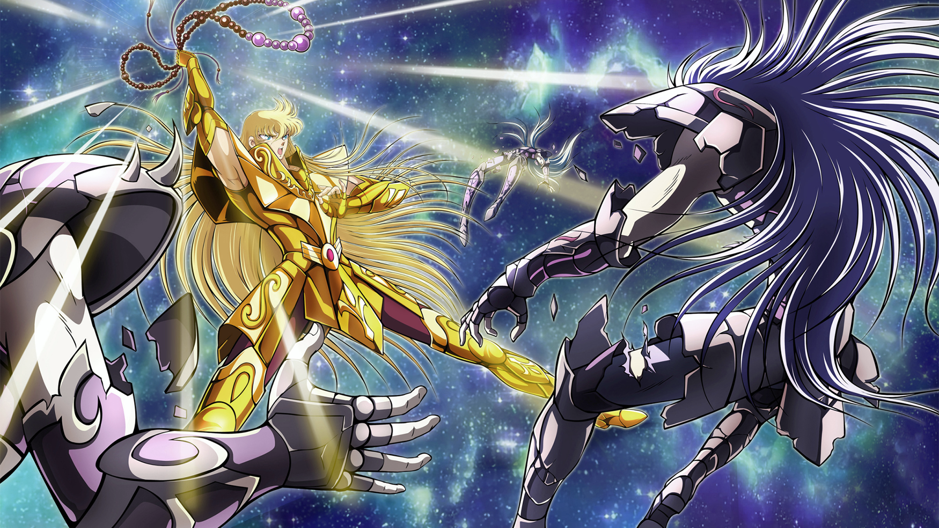 Virgo Shaka vs 3 Golden Saints HD Wallpaper