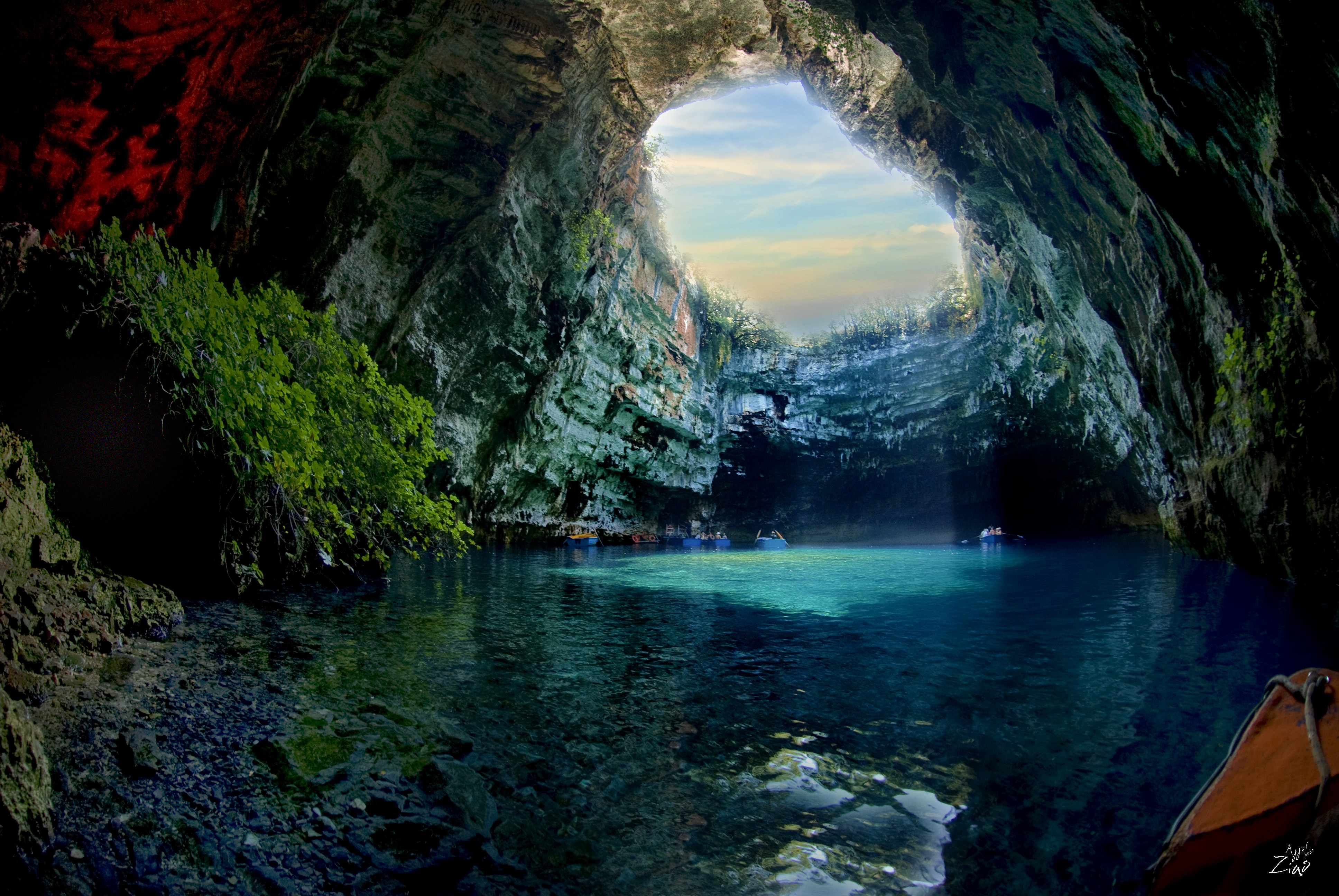 Wallpaper Cave: Melissani Cave In Greece 4k Ultra HD Wallpaper