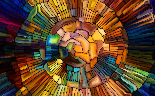Artistic Stained Glass Mosaic Colors HD Wallpaper | Background Image