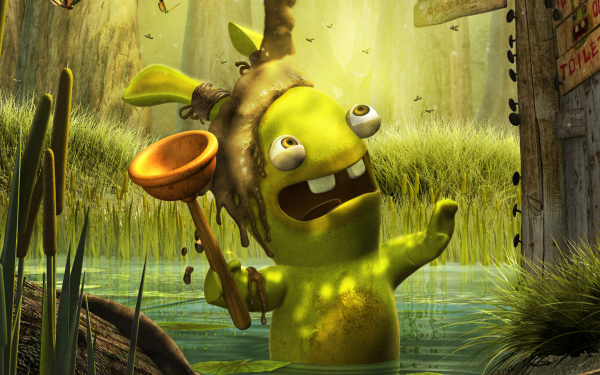Video Game Rayman Raving Rabbids 2 Rayman HD Wallpaper   Background Image