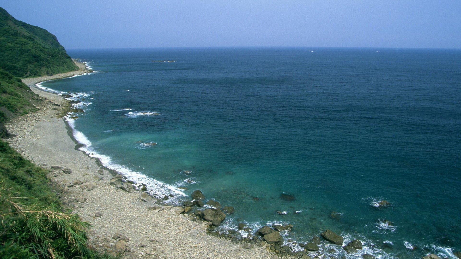 Earth - Ocean  Beach Water Horizon Rock Coastline Wallpaper