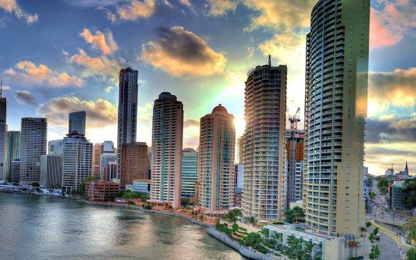 Man Made Brisbane Cities Australia City Cityscape Skyscraper HD Wallpaper | Background Image
