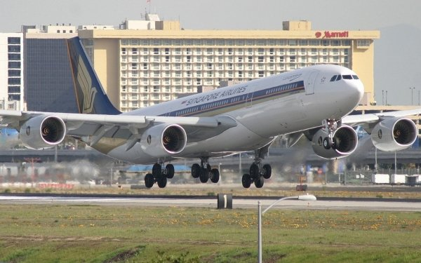 Vehicles Airbus A340 Aircraft Airbus Airplane Passenger Plane HD Wallpaper | Background Image
