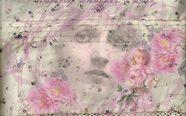 Día festivo Día de la Madre Vintage Fondo de pantalla HD | Fondo de Escritorio