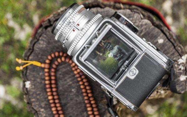 Man Made Camera Hasselblad Vintage Camera Bokeh Blur Buddha HD Wallpaper | Background Image