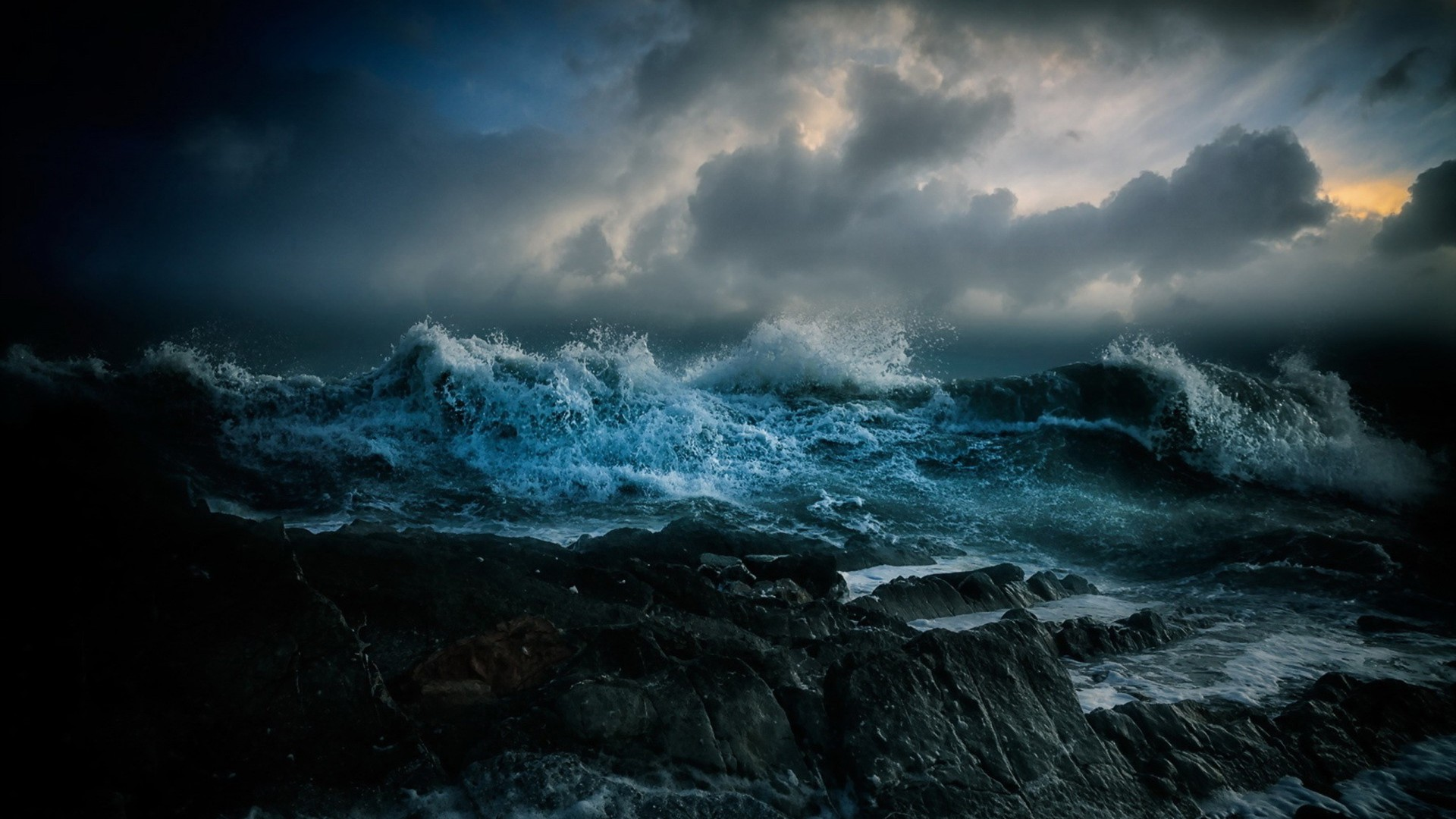 Stormy sea hd wallpaper background image 1920x1080 id 689182 wallpaper abyss - Wave pics wallpaper ...