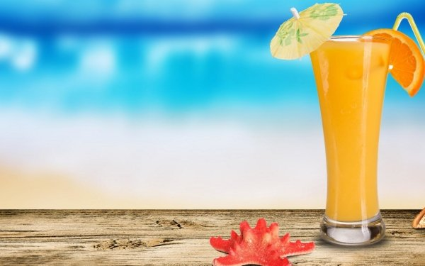Food Drink Summer Cocktail Blur Glass HD Wallpaper | Background Image