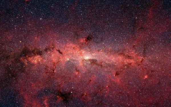 Science Fiction Voie lactée Galaxie Espace Etoiles Infrared Fond d'écran HD | Image