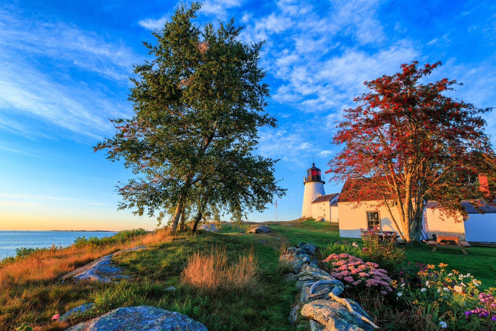 Lighthouse in springtime hd wallpaper background image 2048x1365 id 690486 wallpaper abyss - Backgrounds springtime ...