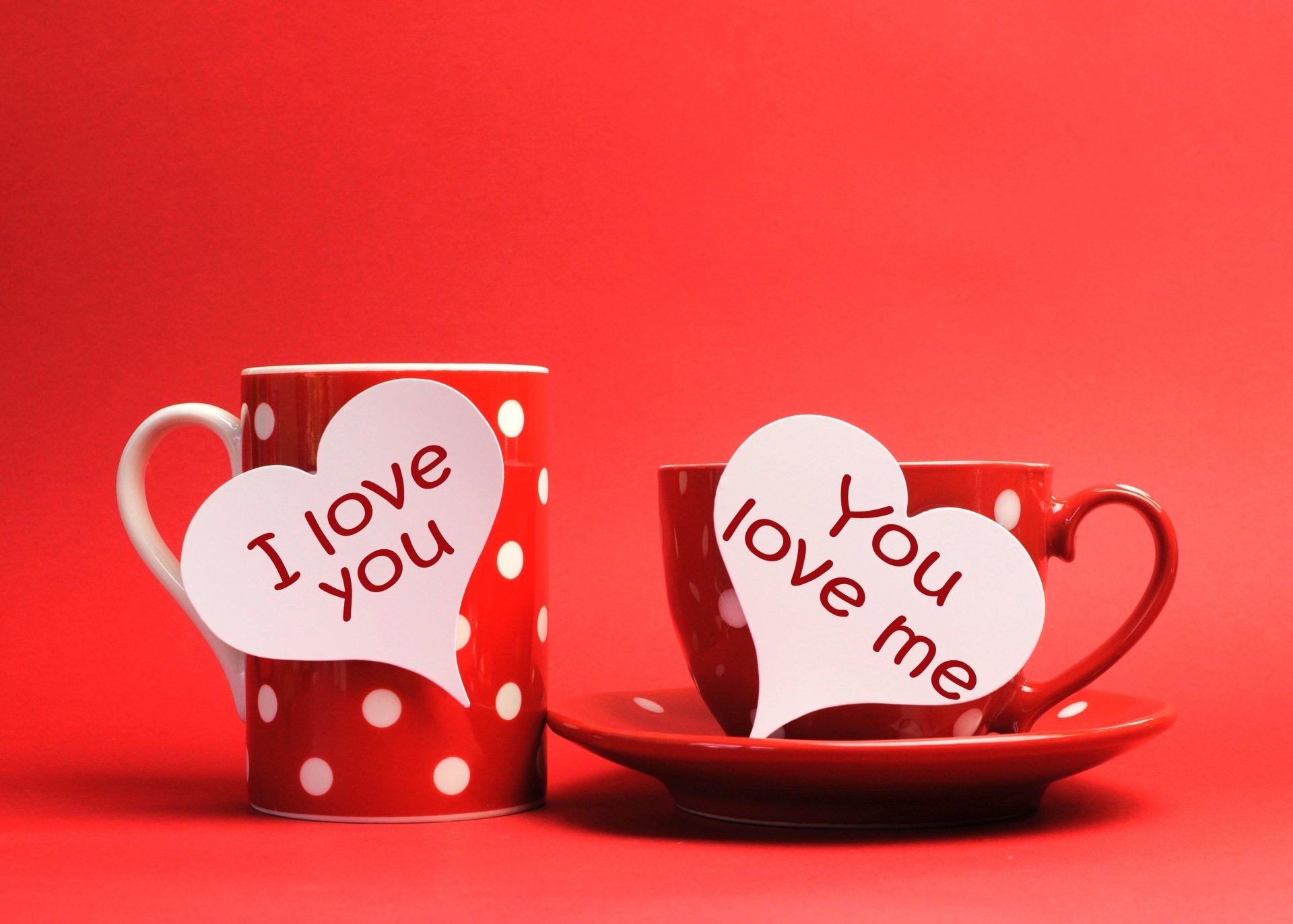 Artistic - Love  Cup Red Wallpaper